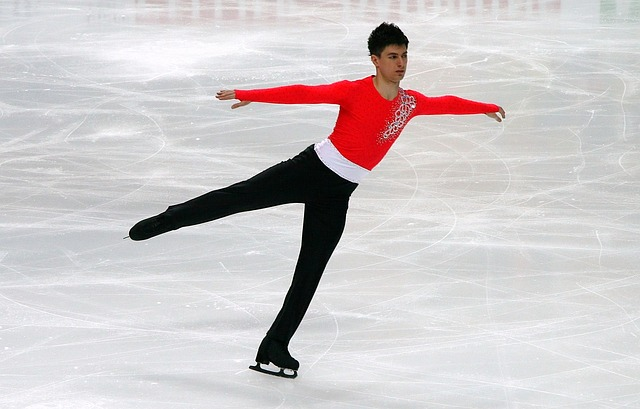 krasobruslař na ledě